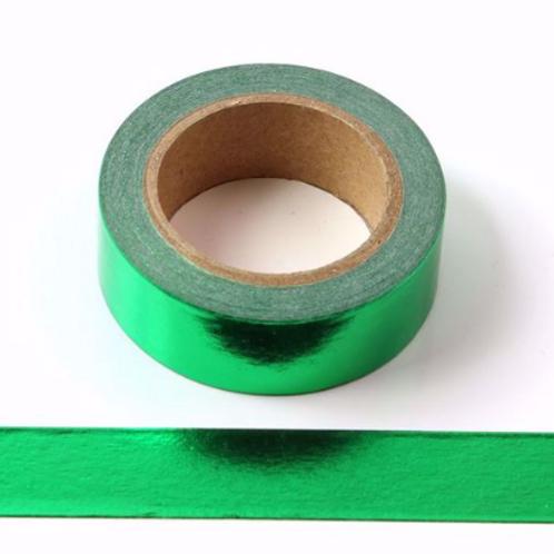F033 - Masking Tape métallique 15mm Foil vert