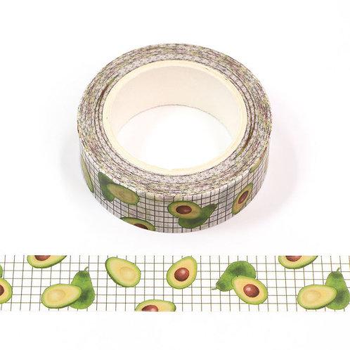 Masking tape motif avocat  15mm x 10m