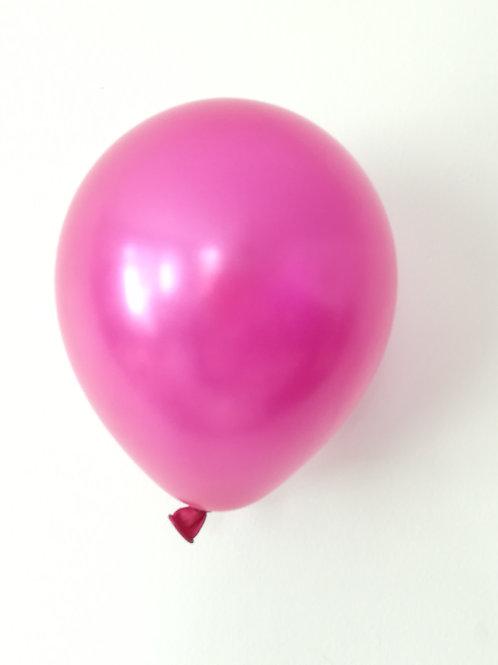 10 ballons latex rose fuchsia perle 15 cm