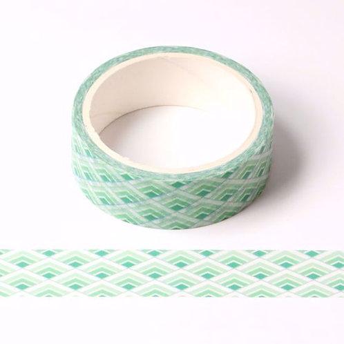 W462 - Masking tape  5m vert quadrillage japonais