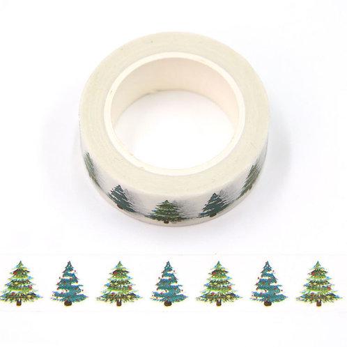Masking tape 15 mm motif sapins