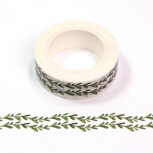 Masking tape 15 mm motif liane rattan