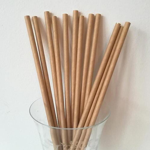 25 pailles papier kraft