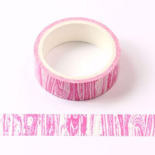 W454 - Masking tape  5m rose motif bois