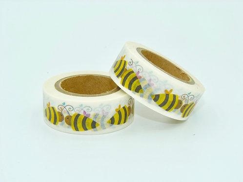 W135 -  Masking tape abeilles enfants  design  15mm x
