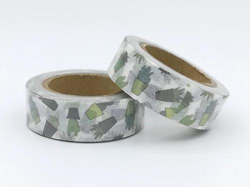 W394 - Masking tape cactus
