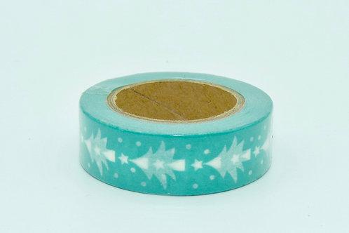 Masking tape bleu sapin blanc 15mm x 10m