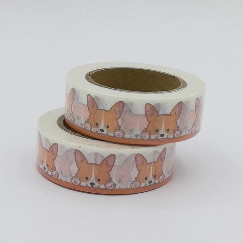 W401-  Masking tape chien I Dog washi tape