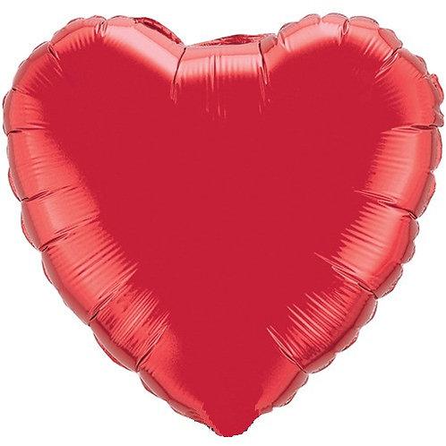 Ballon mylar géant coeur ROUGE 90 cm