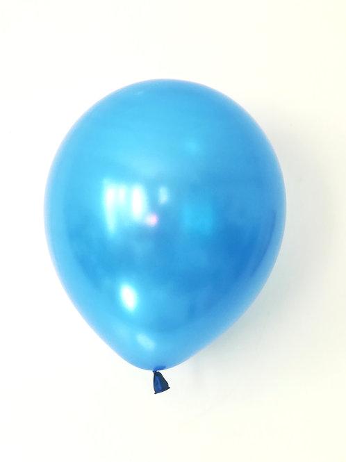 10 ballons latex bleu métallique  30 cm haute qualité