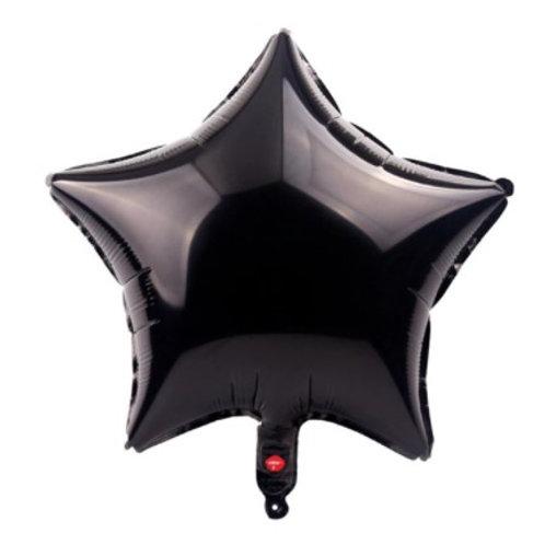 Ballon aluminium étoile  noir   45 cm - remplissage hélium