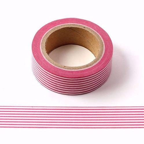 W418 - Masking tape rayures fines rouges