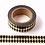 Thumbnail: F019 - Masking tape métallique 15mm Foil doré losanges noirs
