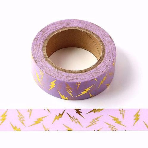 F129 - Masking tape foil rose éclair or