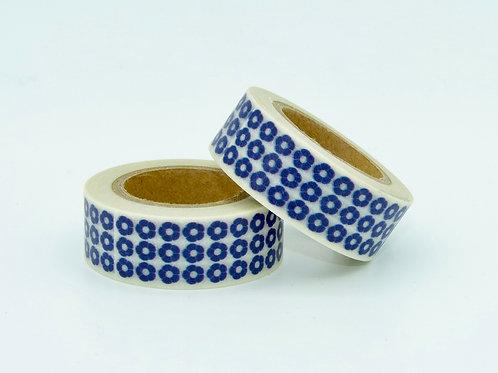 W198 - Masking tape fleurs bleues