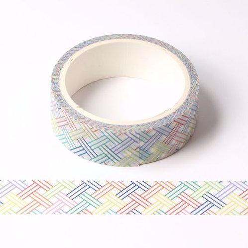 Masking tape rayures arc en ciel 15mm x  5m