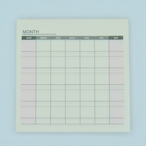 Memo pad Organisation Mois 60 pages post-it organiser