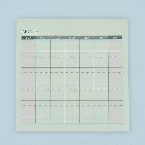 MEMO003 - Organisation mensuelle