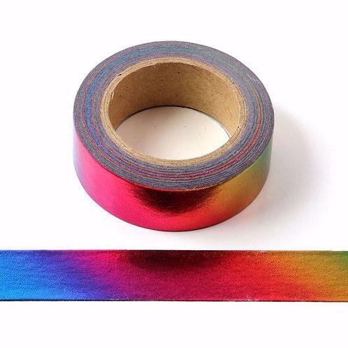 F074- Masking tape métallique 15mm foil arc en ciel