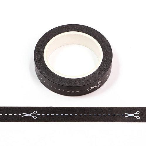 Masking tape  métallique 10 mm motif couture