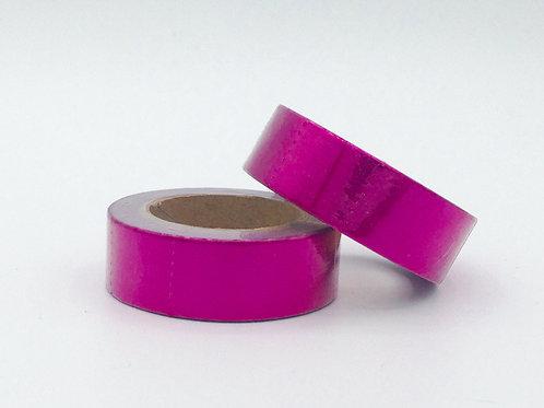 Masking tape foil rose métallique 15mm x 10m