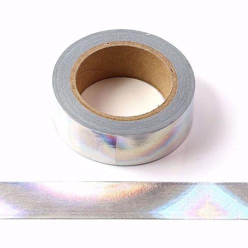 F125 - Masking tape foil laser argent