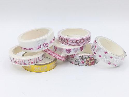 8 masking tape love xoxo coeur