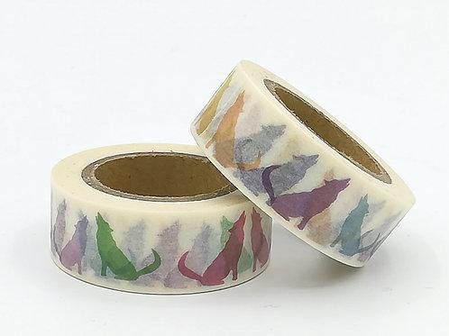 W333- masking tape chiens colorés