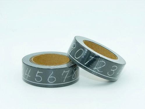 W194 - Masking tape chiffre N&B