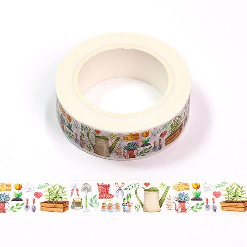 Masking tape 15 mm motif jardinage