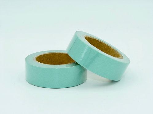 W158-  Masking tape vert clair couleur uni basique  design  15mm