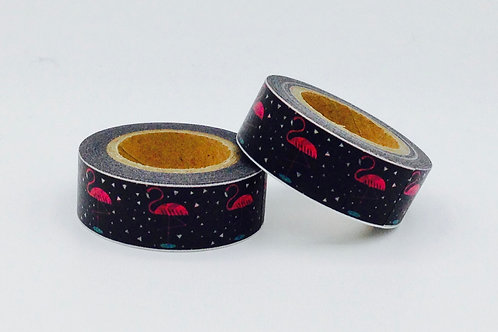 W296 - Masking tape noir Flamand rose