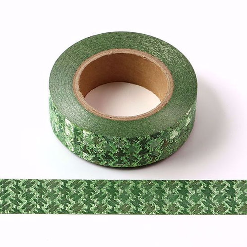 Masking tape glitter vert 15mm x 10m