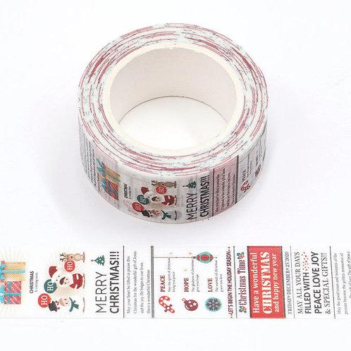 Masking tape  journal de  Noël 10m W526
