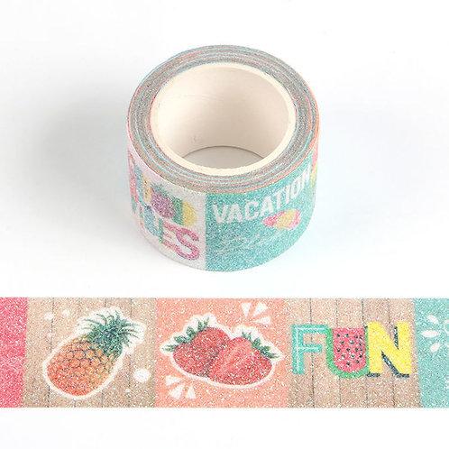 Masking tape Fruits Eté FUN  glitter 30mm x 3m