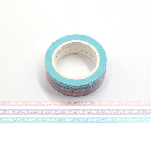 F155 - 3 Masking tape foil coeurs
