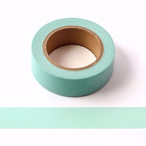 W158 - Masking tape 15mm vert pastel uni