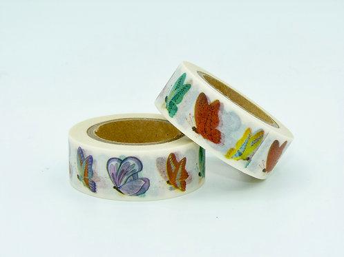 W220 - Masking tape papillons colorés