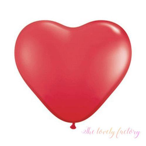 Ballon Coeur latex Géant 90 cm rouge