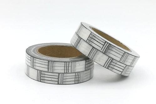 W369-  Masking tape mur noir blanc I black wall pattern  washi tape