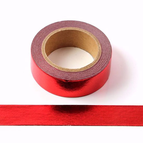 Masking tape foil rouge métallique 15mm x 10m