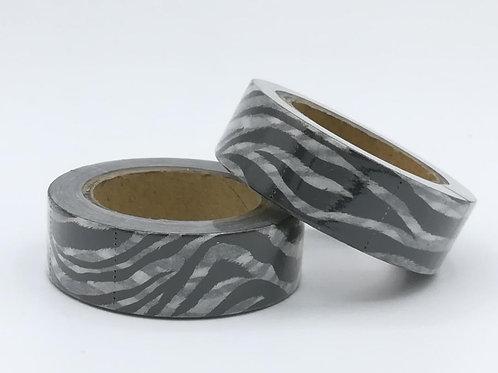 W370 - Masking Tape design noir& blanc zèbre