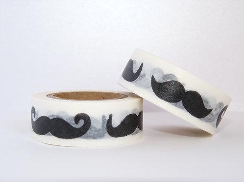 W138 - Masking tape moustaches N&B