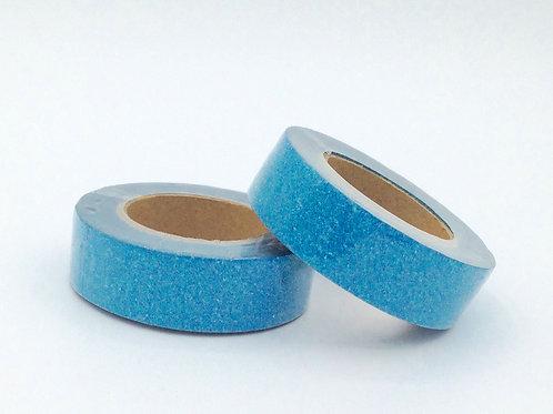 G030 - Masking tape paillettes bleu lagon clair glitter