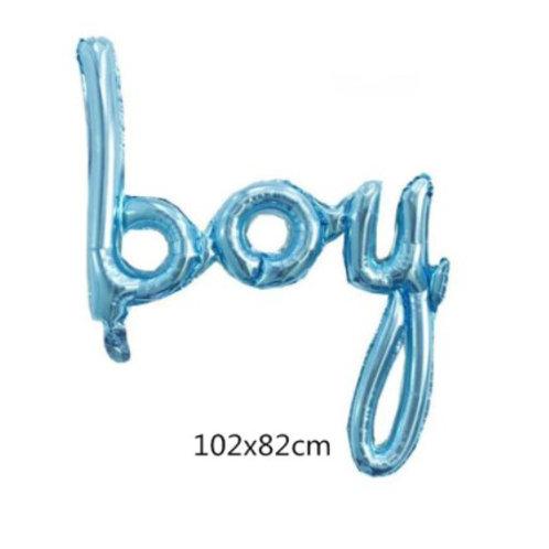 Ballon aluminium boy bleu garçon gender reveal babyshower