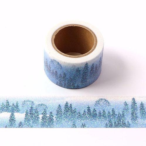 G083 - Paillettes glitter motif forêt neige scintillant