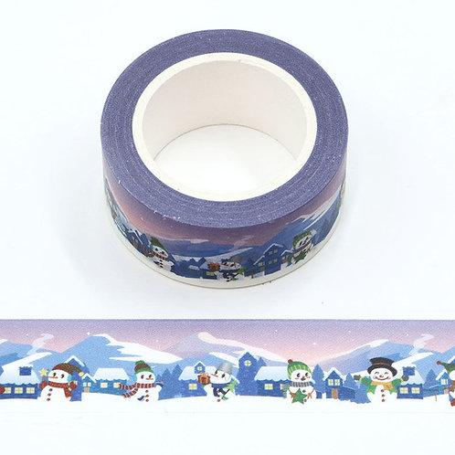 W525 - Masking tape village de Noël