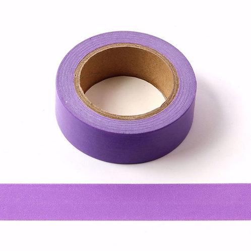 Masking tape blanc violet couleur unie basique fun  design 15mm x 10m