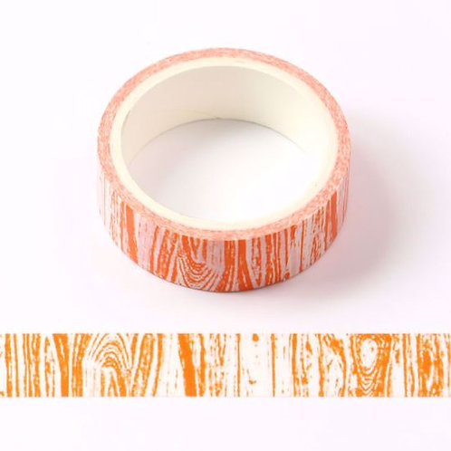 W453 - Masking tape  5m orange motif bois