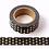 Thumbnail: F026- Masking Tape métallique 15mm Noir pois dorés